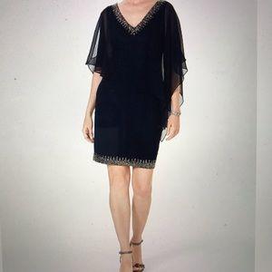 NWT J KARA EMBELLISHED SHEATH DRESS